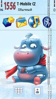 Cute Hippo 01 tema screenshot
