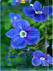 Flower blue theme screenshot