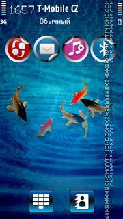 Tropical Blue Fishes tema screenshot