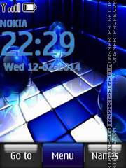 Cool Blu Abstract theme screenshot