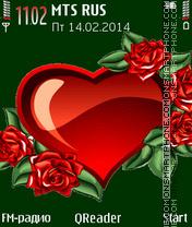 Скриншот темы Love Theme