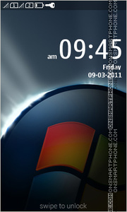 Windows Black 01 theme screenshot