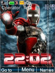 Iron Man tema screenshot