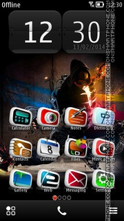 Hip-Hop Dancer 01 theme screenshot
