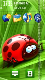 Ladybug in Summer theme screenshot