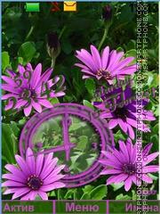 Flower pink theme screenshot