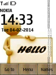 Hello SMS theme screenshot