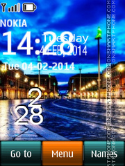Belgium Street Digital Clock theme screenshot
