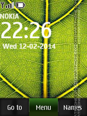 Green Leaf 04 tema screenshot
