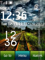 Railway In Jungle Clock theme screenshot