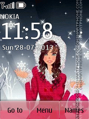Winter Girl 02 tema screenshot