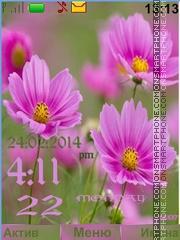 Скриншот темы Flower pink