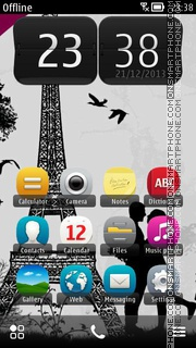 I Love Paris 01 theme screenshot