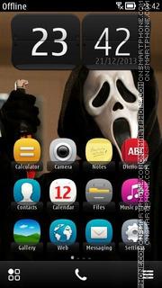 Scream Film theme screenshot