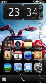 Mercedes-Benz SLS AMG theme screenshot