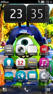 Monsters University 01 theme screenshot