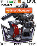 Capture d'écran Megatron thème