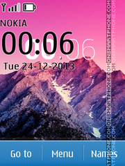 Mountains with Android Kitkat Menu theme screenshot