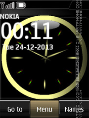 Black Dual Clock theme screenshot