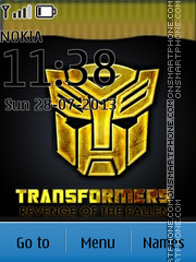 Transformers 03 theme screenshot
