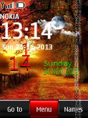 Autumn live clock theme screenshot