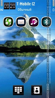 Reflection Mountain Lake es el tema de pantalla