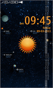 Solar System Full Touch theme screenshot