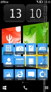 Lumia Blueberry theme screenshot