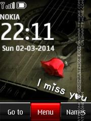 I Miss You 23 tema screenshot