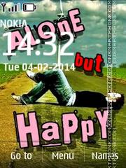 Happy Alone tema screenshot