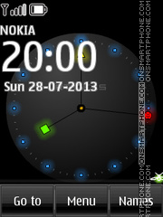 LCD Clock theme screenshot