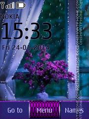 Lilac Flower theme screenshot
