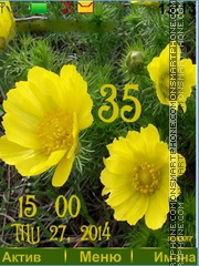 Flower yellow theme screenshot