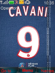 Edinson Cavani 9 theme screenshot