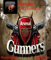 Arsenal theme screenshot
