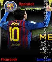 Скриншот темы Messi 2014