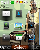 GTA Digital Clock 01 tema screenshot