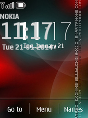 Neon Clock 01 theme screenshot