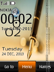 Note Live Clock theme screenshot