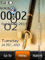 Note Live Clock es el tema de pantalla