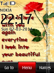Fall in Love theme screenshot