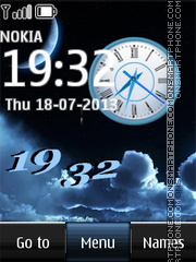Moon Dual Clock theme screenshot