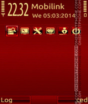 Red shine theme screenshot