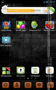 Black Android Theme 01 theme screenshot