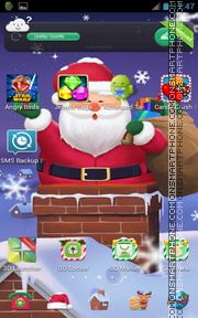 Cuddly Christmas Santa theme screenshot