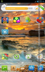 Sunset Waves theme screenshot