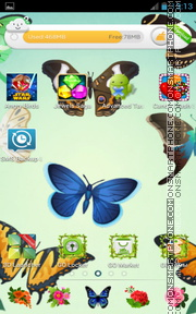 Garden Butterflies theme screenshot