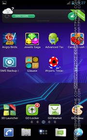 Honeycomb Pro 01 tema screenshot