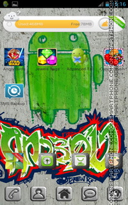 Green Android 02 theme screenshot