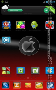 Red Apple 02 tema screenshot
